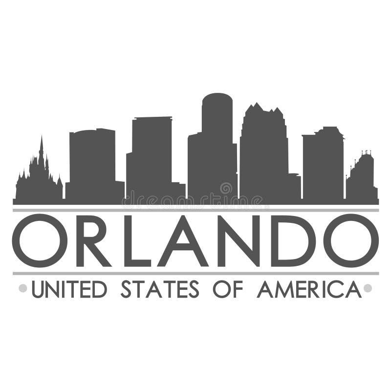 Orlando Skyline Silhouette Design City-Vektor-Kunst vektor abbildung