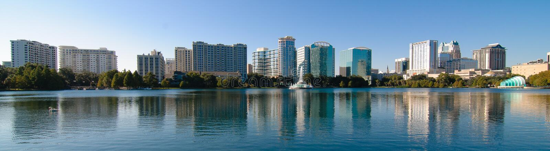 Orlando-Stadtbild lizenzfreies stockfoto