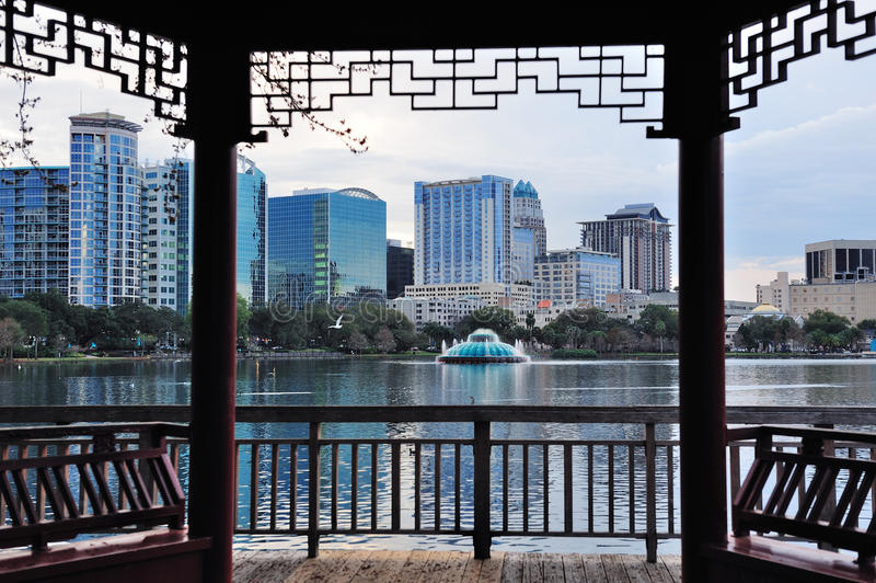 Download Orlando Sunset Over Lake Eola Stock Image - Image of office, orlando: 23791629