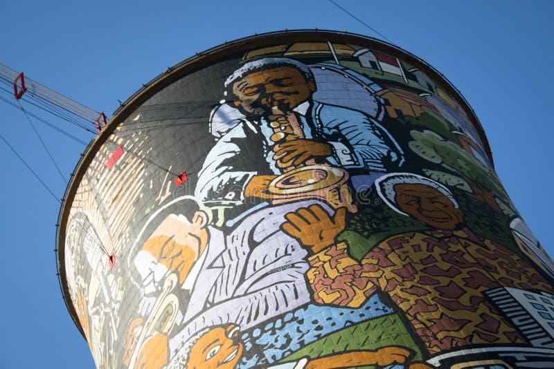 Orlando Towers en Soweto foto de archivo