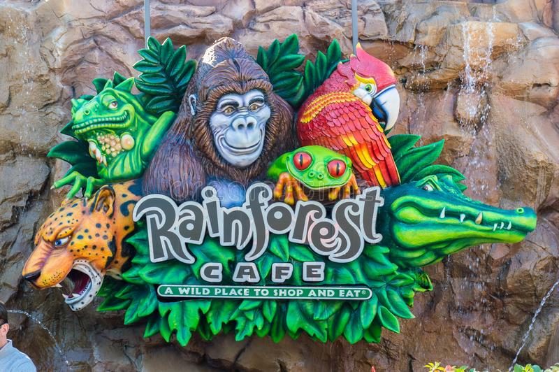 Rainforest Cafe sign royalty free stock images