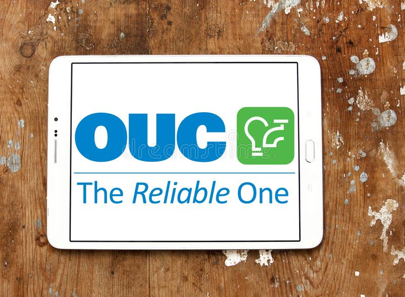 Orlando Utilities Commission, OUC, logotipo da empresa imagens de stock royalty free