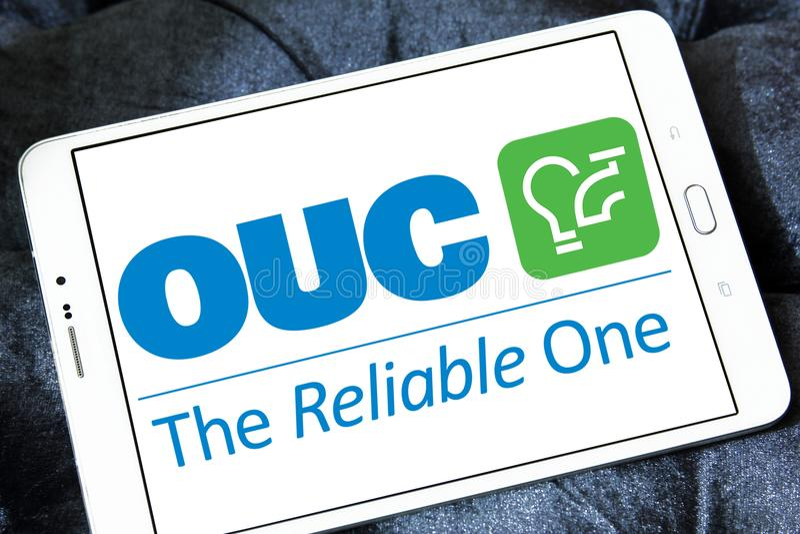 Orlando Utilities Commission, OUC, logotipo da empresa imagens de stock