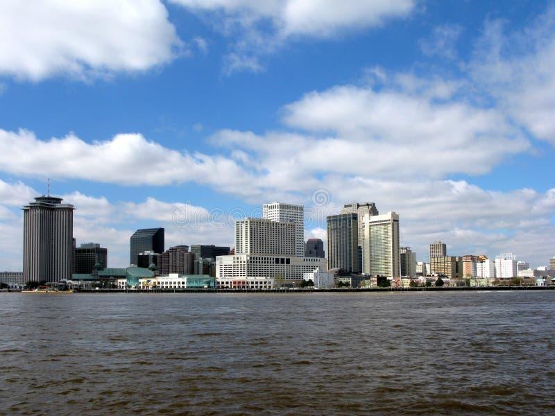 Orlean Luizjana komunalnych pejzażu w centrum nowa linia horyzontu fotografia stock