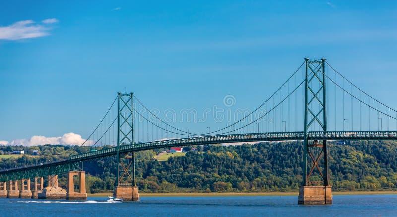 Orleans Island Bridge. The Orleans Island Bridge Over the Saint Lawrence River near Quebec City, Quebec, Canada stock photos