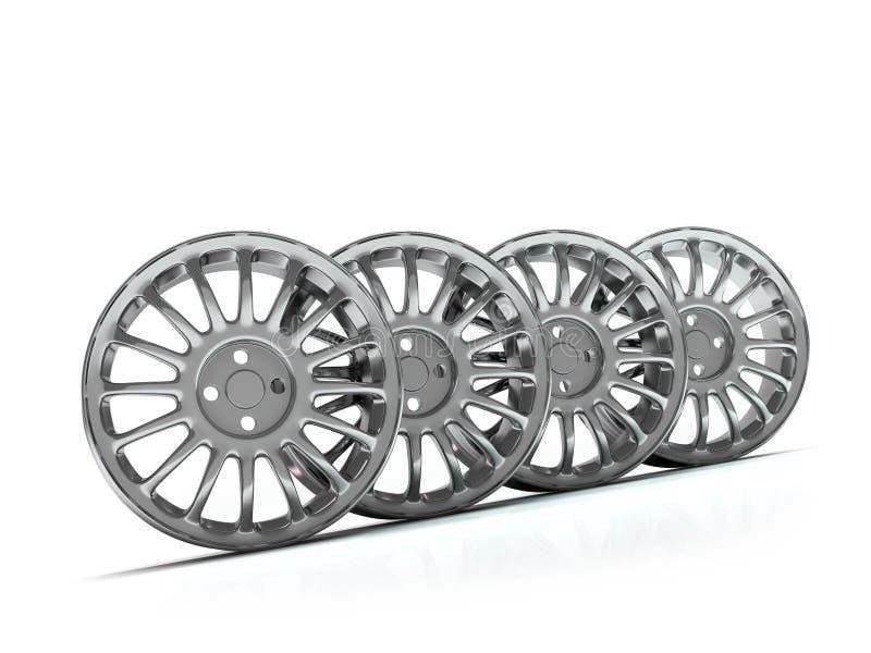 Orli della lega di alluminio, orli dell'automobile. illustrazione vettoriale