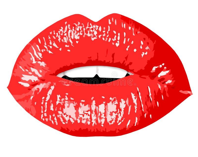 Orli rossi di bacio - illustrazione illustrazione di stock