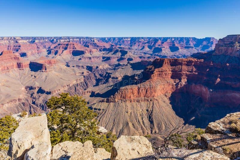 Orlo del sud irregolare di Grand Canyon fotografia stock libera da diritti