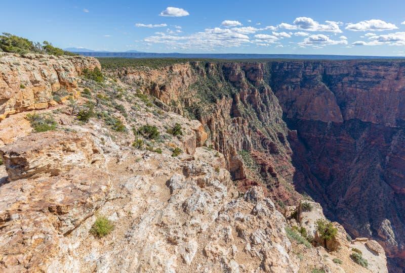 Orlo del sud irregolare di Grand Canyon immagini stock