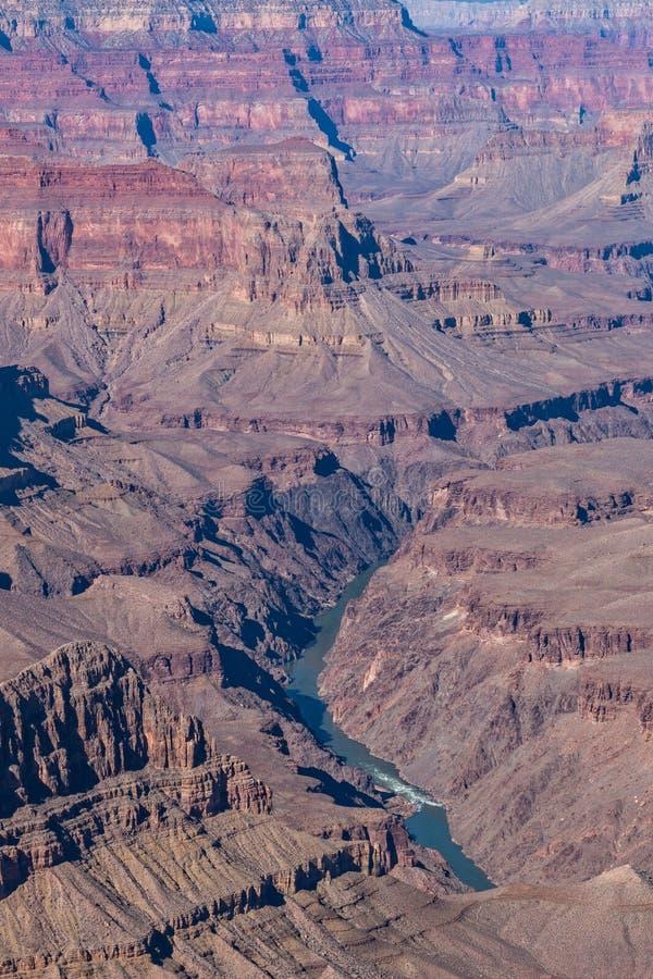 Orlo del sud scenico di Grand Canyon fotografia stock libera da diritti
