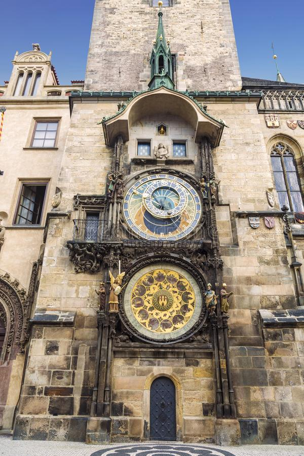 Orloj- the Astronomical Clock at Old City Hall at the Market Square in Prague, royalty free stock photos