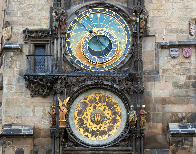 Orloj astronomical clock in Prague in Czech Republic.  royalty free stock photography