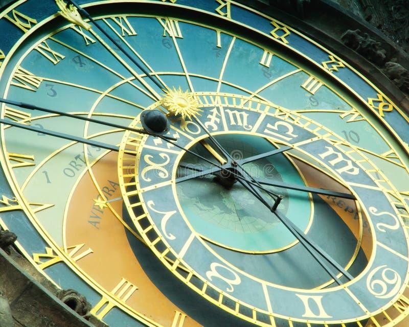 Orloj astronomische klok in Praag in Tsjechische Republiek stock foto