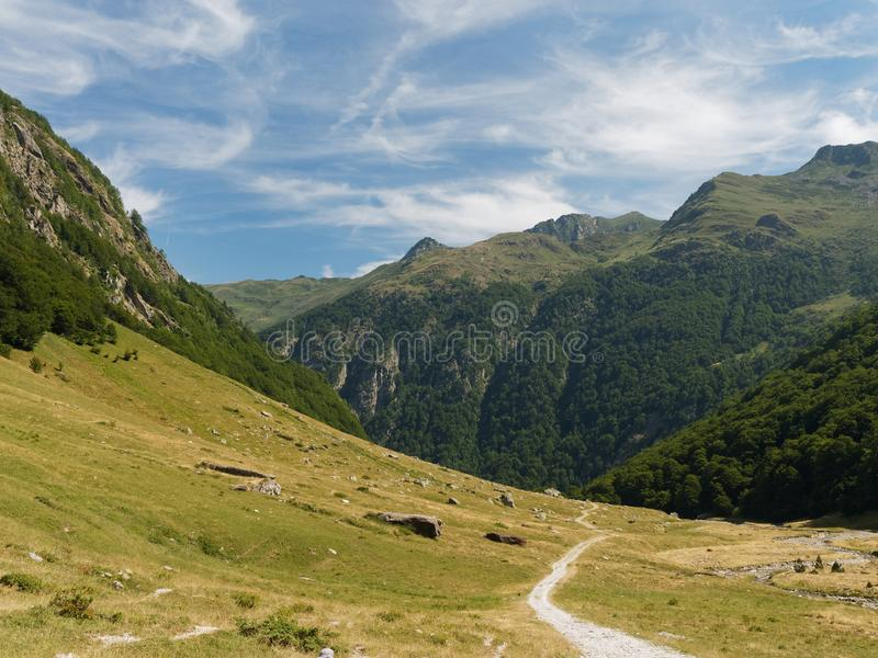 Orlu natural reserve, Pyrenees, France royalty free stock photography