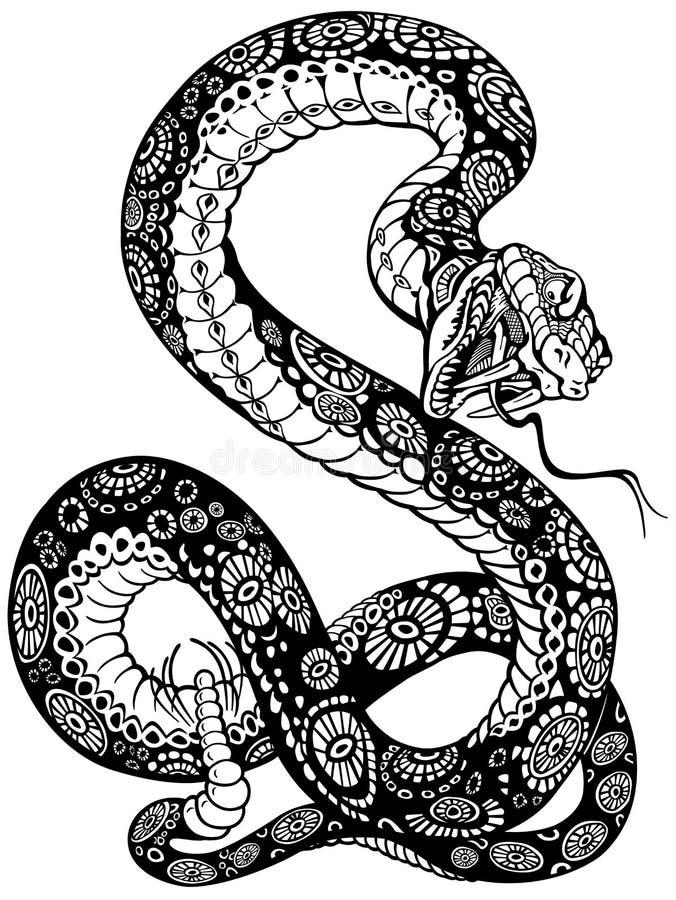 Orm royaltyfri illustrationer