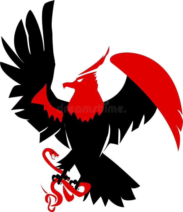 orm för fågeljaktrov vektor illustrationer