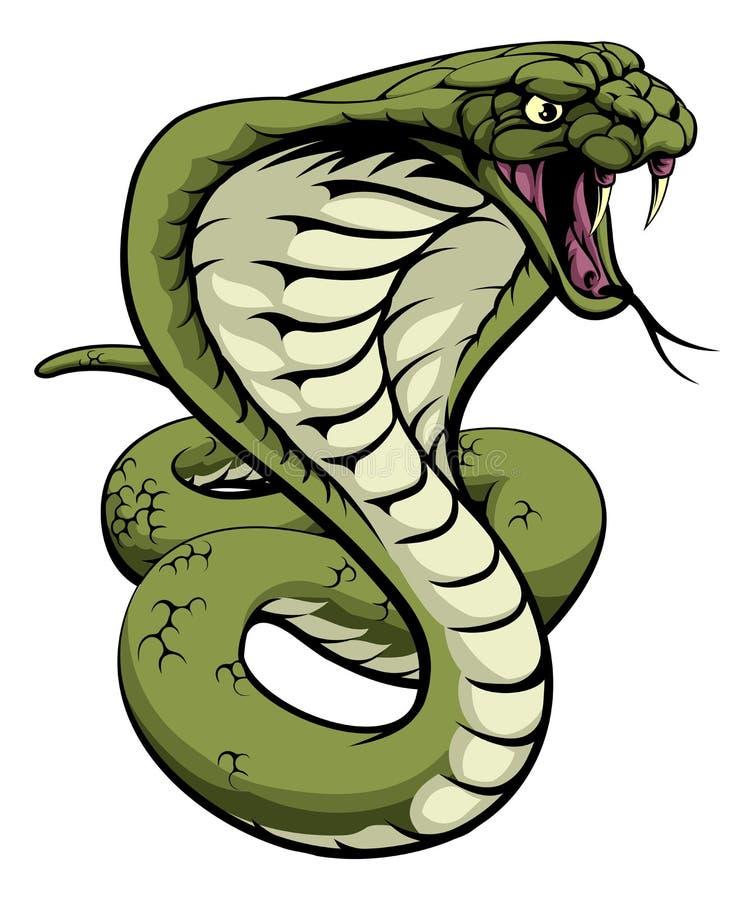 Orm för konungkobra stock illustrationer