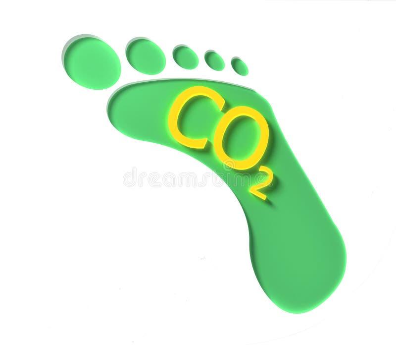 Orma del CO2 illustrazione vettoriale