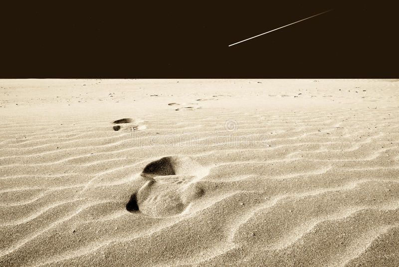 Orma nella sabbia immagini stock libere da diritti