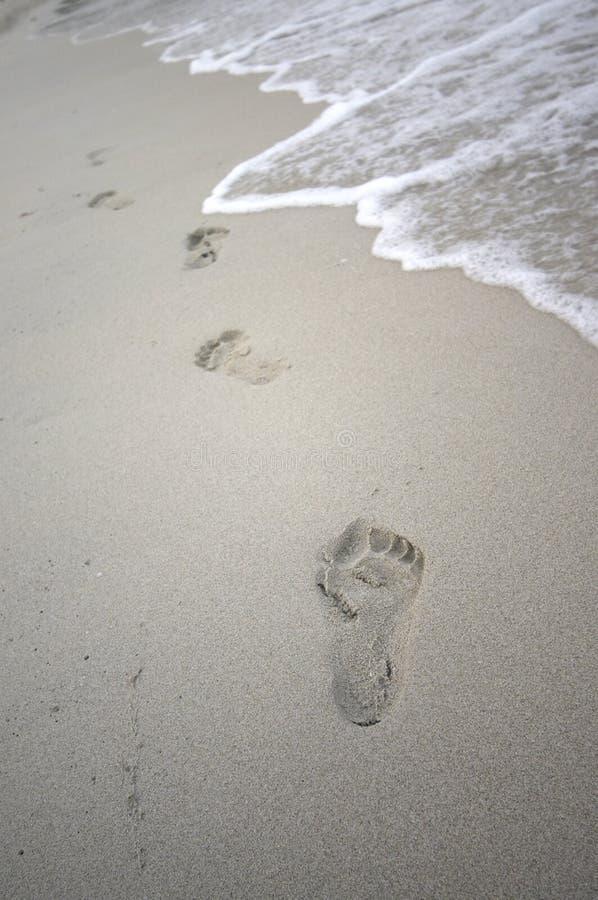 Download Orme nella sabbia immagine stock. Immagine di muoversi - 201093