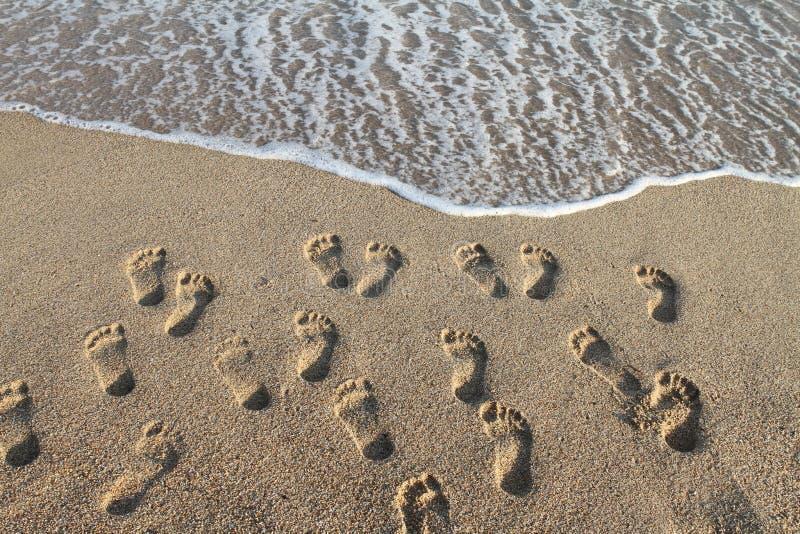 Orme nella sabbia fotografia stock