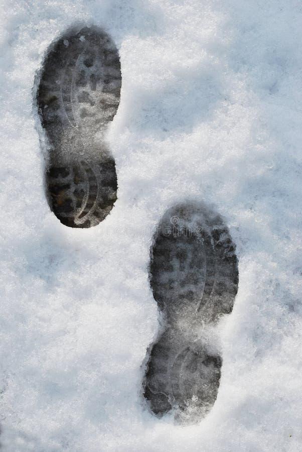 Orme Sulla Neve Immagine Stock Libera da Diritti