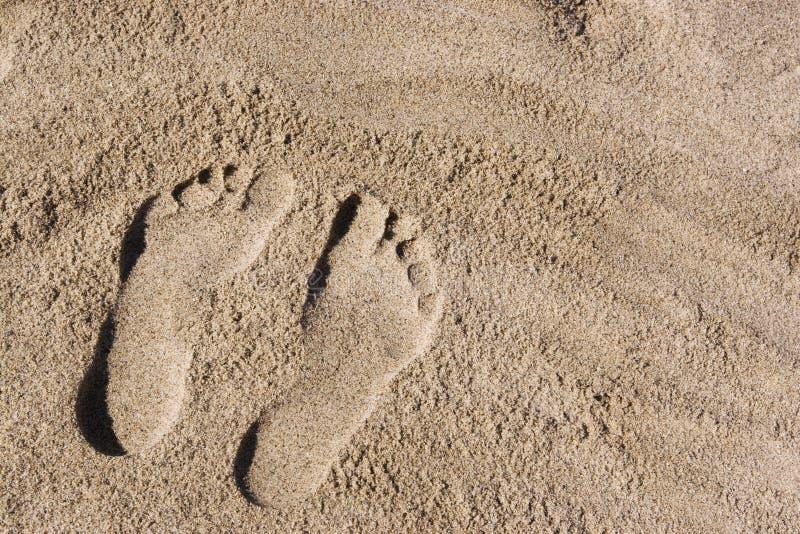 Orme sulla sabbia fotografie stock