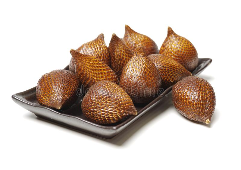 Ormfrukt eller Salak royaltyfri bild