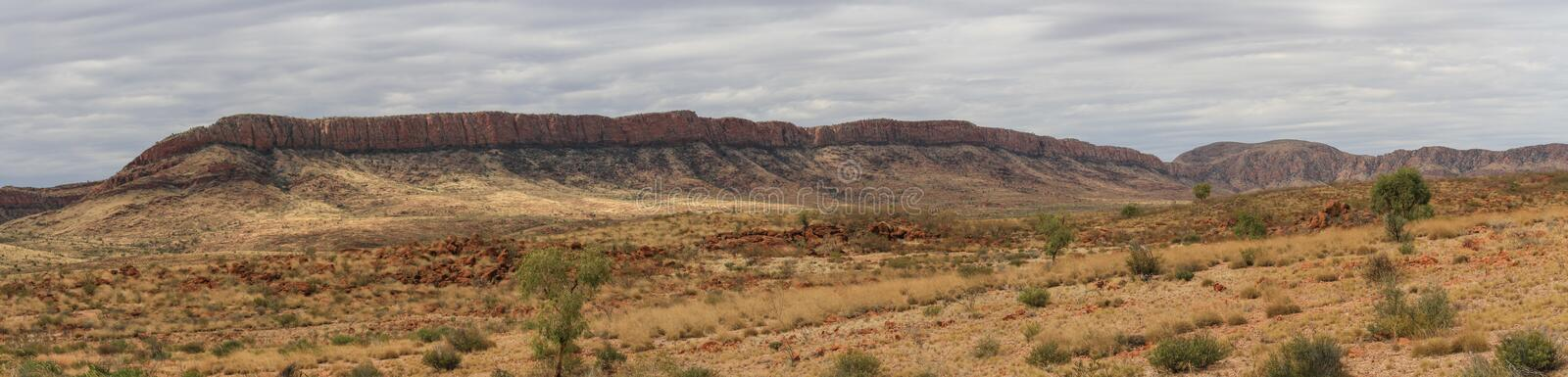 Panoramic in Ormiston Gorge in the west MacDonnell range, Northern Territory, Australia,. Ormiston Gorge is a great place for a swim, or to see the towering royalty free stock photo