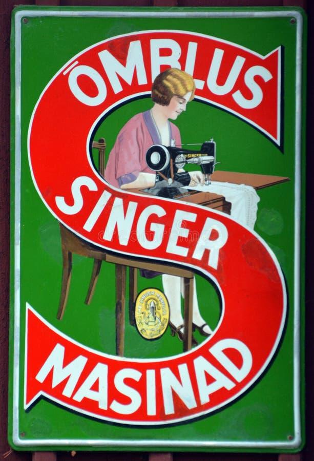 Ormlus Singer Masinad - sigla vintage Singer Corporation imagem de stock royalty free