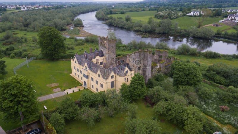 Ormond slott Carrick-på-Suir Co tipperary ireland royaltyfria foton