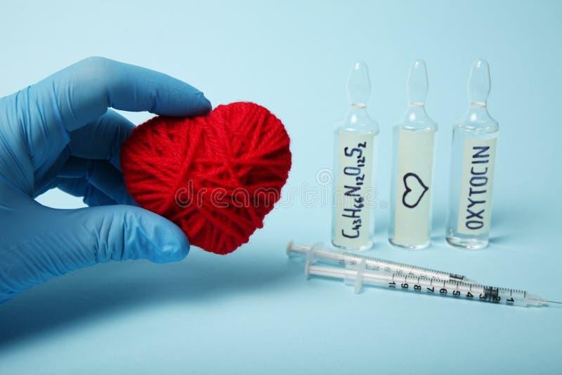 Ormoni di ematochimica Ossitocina di biochimica Controllo di amore immagini stock libere da diritti