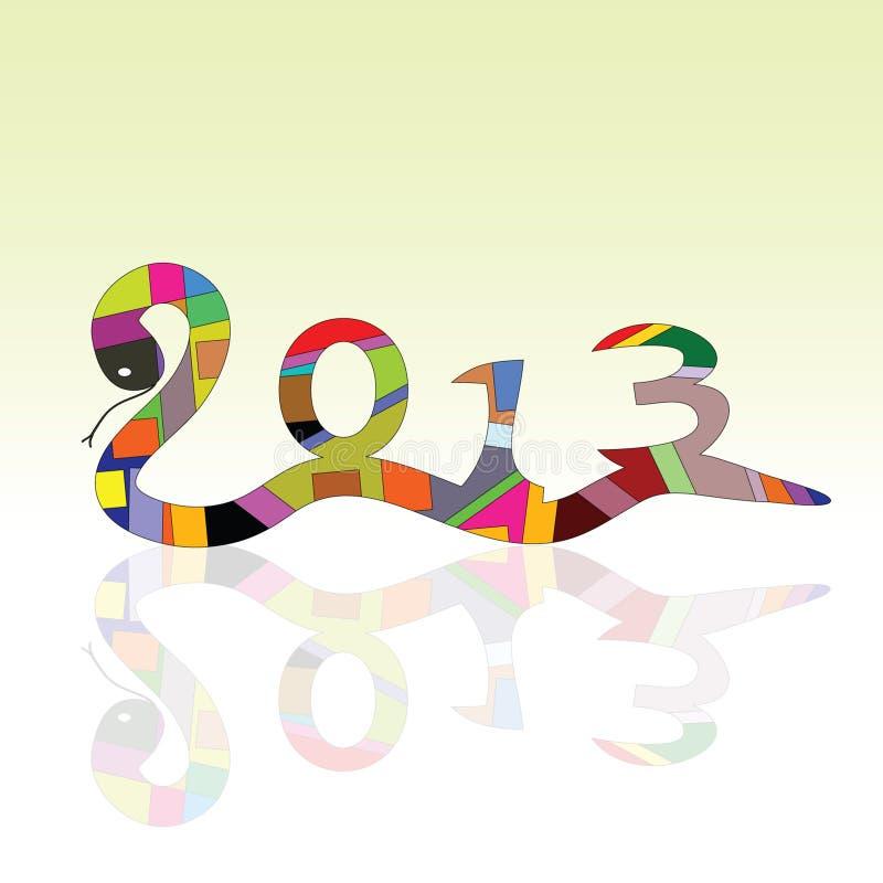 Ormtecken för 2013 år royaltyfri illustrationer