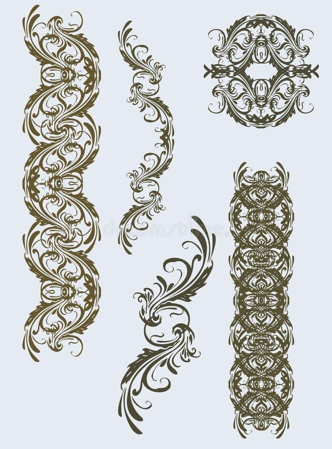 ornamentów kwiecistych rocznik ilustracja wektor
