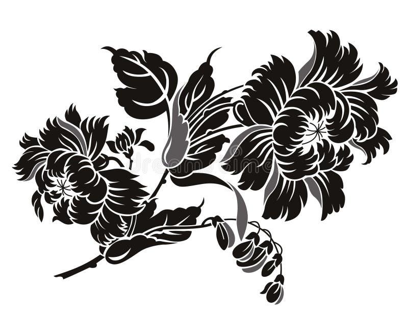 Ornament 1 van China royalty-vrije illustratie