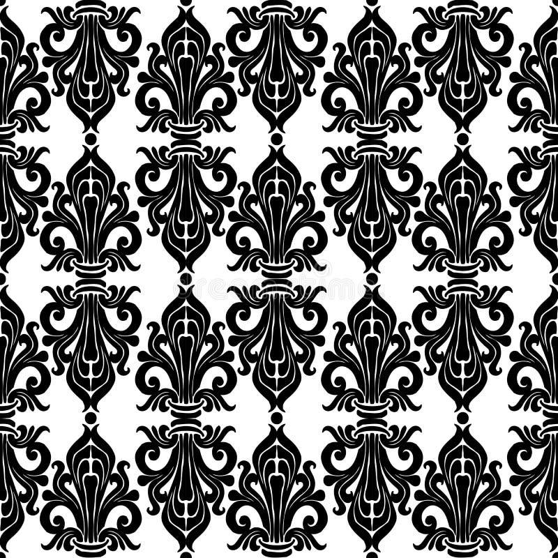 Ornament Art Nouveau. Seamless floral ornament classic Art Nouveau. Template royalty free stock photography