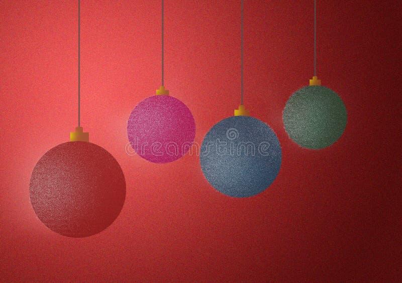Ornament balls Christmas design background wallpaper vector illustration