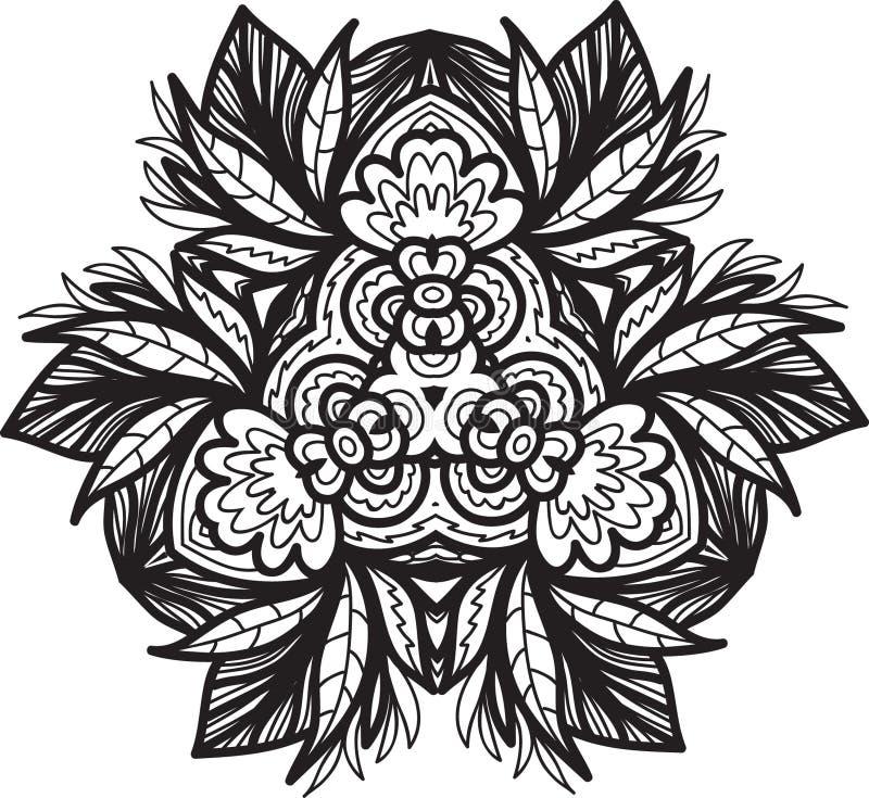 Ornament black mandala. Ornament black white card with mandala. Geometric circle element made in vector stock illustration