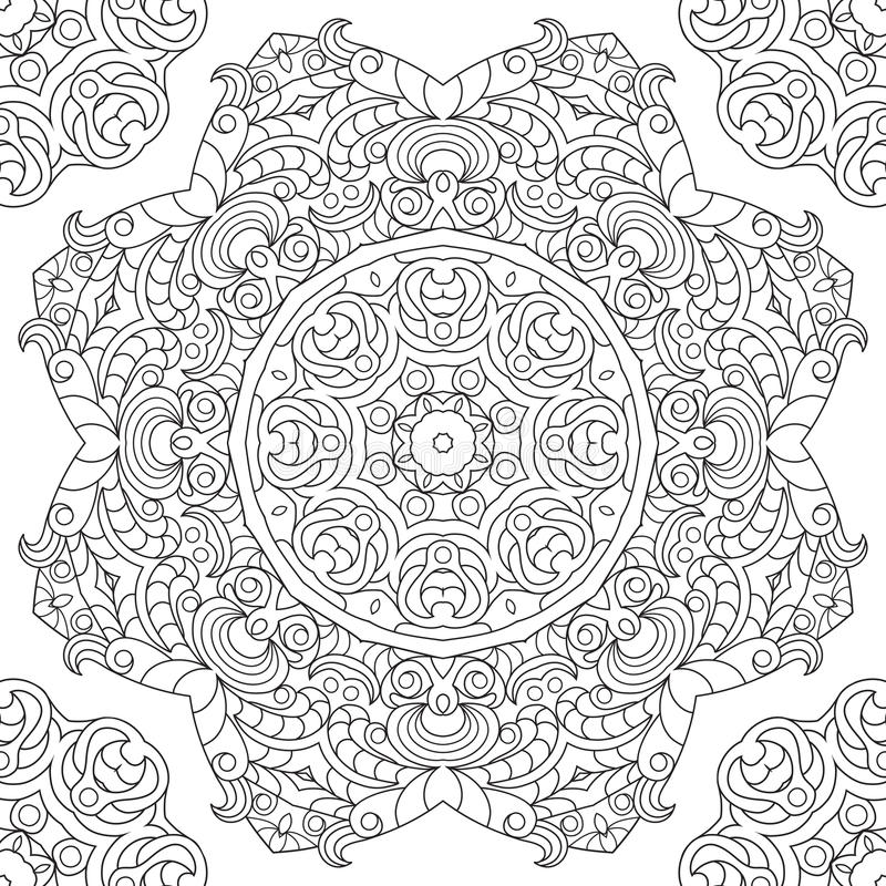Ornament card with mandala vector illustration