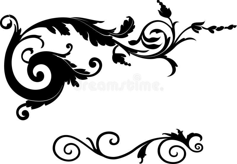 Ornament a cascata ilustração do vetor