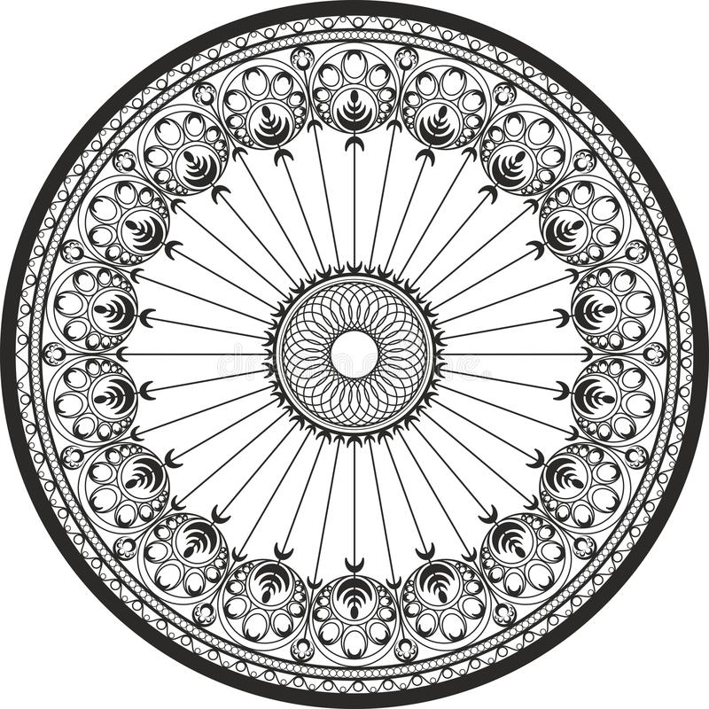 Ornament in a circle - Cast steel and Wrought iron Ornament royalty free stock images