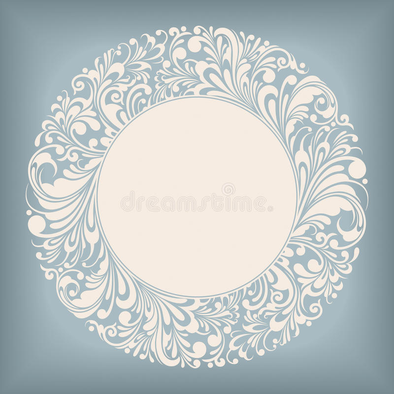 Free Ornament Circle Label Stock Photo - 24066930
