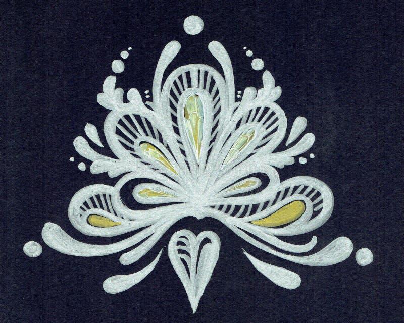 Ornament in de vorm van een kroon stock afbeeldingen
