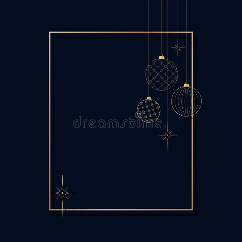 Ornament of decorative light New Year`s golden balls for Christmas and New Year Pattern for postcard invitation advertising Winter. Ornament of decorative light vector illustration