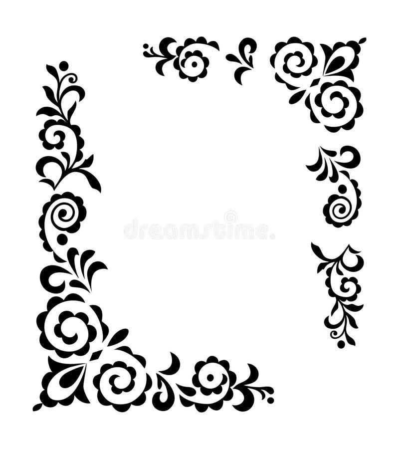 ornament dekoracyjny royalty ilustracja