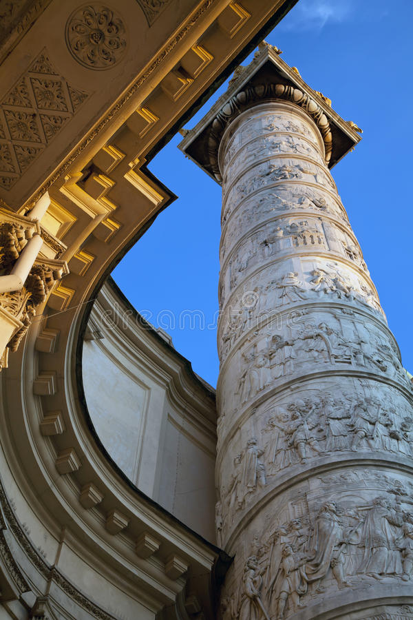 Ornament details of the Karlskirche. (St. Charles Church) in Vienna, Austria stock photography