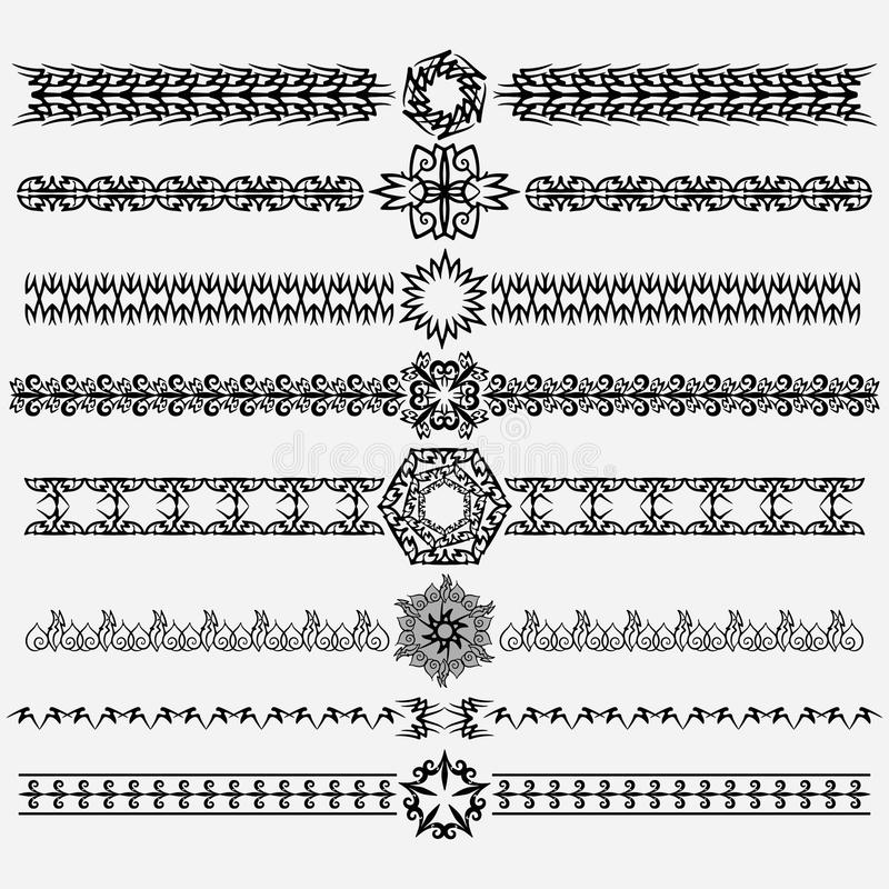 Ornament and dividers royalty free illustration
