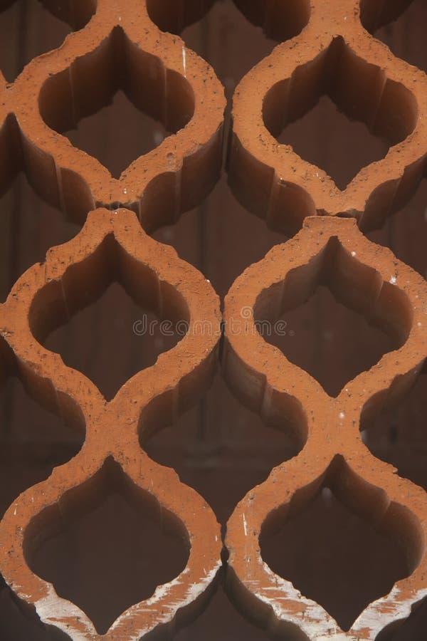 Ornament door bakstenen wordt gemaakt die royalty-vrije stock afbeelding