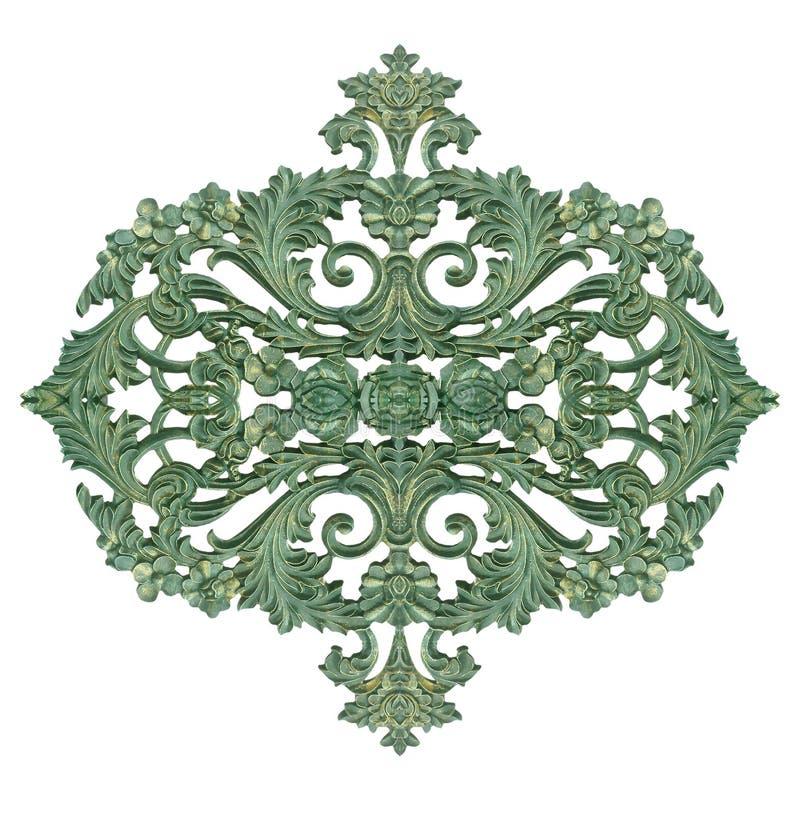 Ornament-elementen, wijnflorale ontwerpen geïsoleerd op wit royalty-vrije stock foto