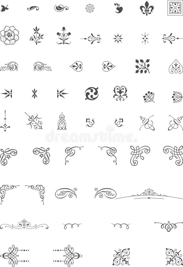 Download Ornament elements stock vector. Image of document, label - 33253467